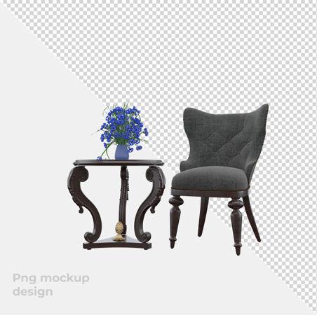 集沙发三维渲染装饰与室内设计于一体