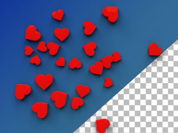 爱心表情3d渲染隔离