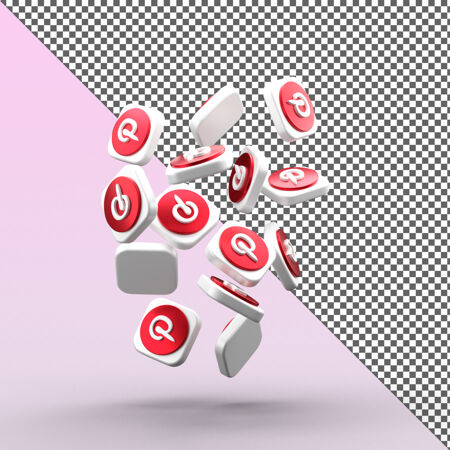 Pinterest3d图标设计隔离
