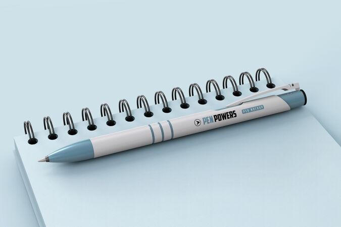 品牌笔螺旋笔记本模型