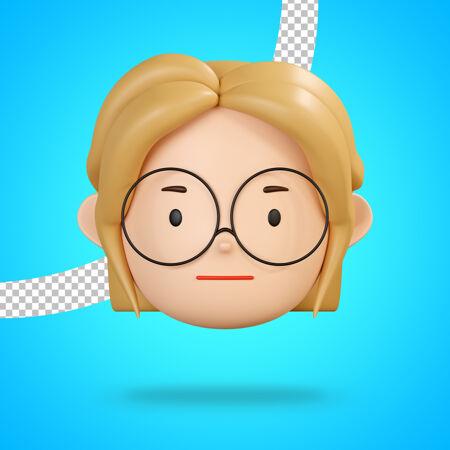中立的脸表情为无声表情的女孩性格与眼镜