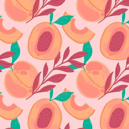 桃花图案设计