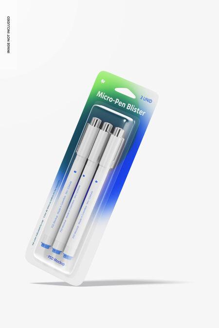 微型钢笔水泡模型 下降