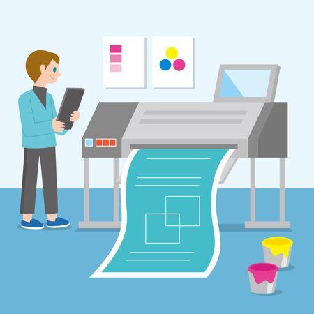 印刷行业插图