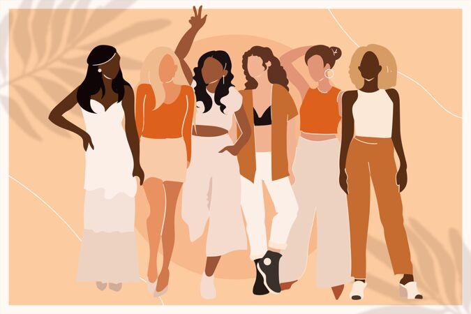 图文并茂的妇女手绘组