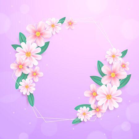 逼真的春季花架