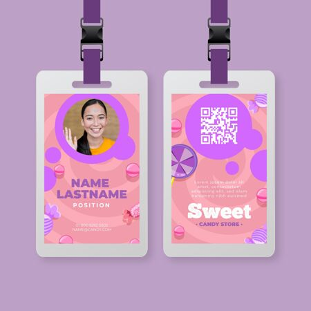 女人的糖果身份证模板